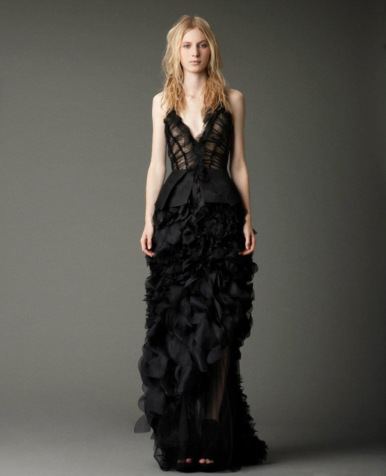 Vera Wang Black Wedding Dress Rlrb