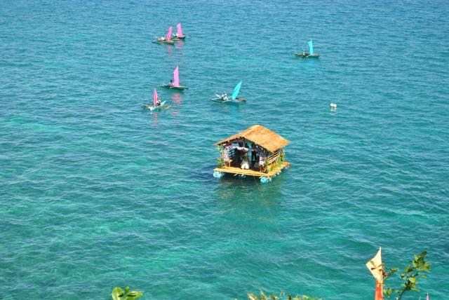 blue ocean philippines danao hut