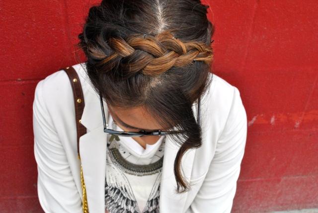 crown braid hair inspiration braided headband ombre hair braids