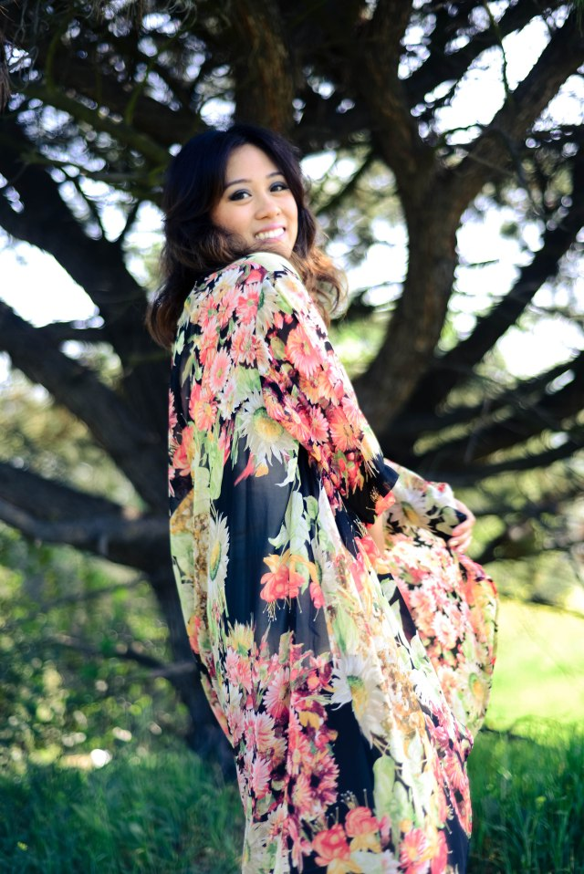 RLRB powder Canyon floral Kimono