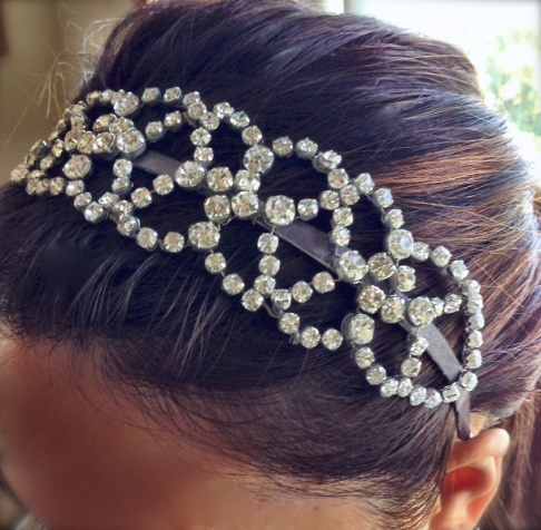 Crystal Wedding headband accessories RLRB Handmade