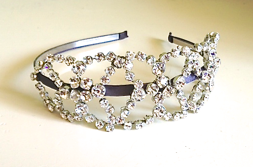 Wedding Accessories Headband Handmade swaroski crystals rlrb