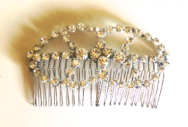 Wedding hair clip accessories RLRB crystal hair clip