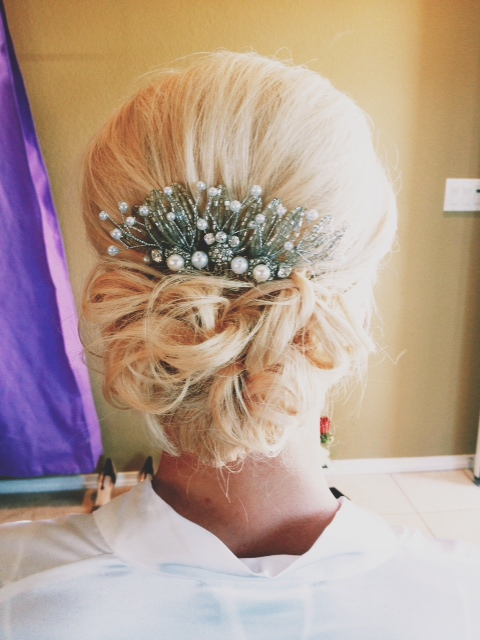 bridal hairclip beads pearl hair accessories