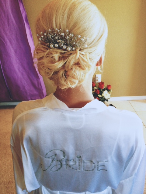 bride hairclip accessories