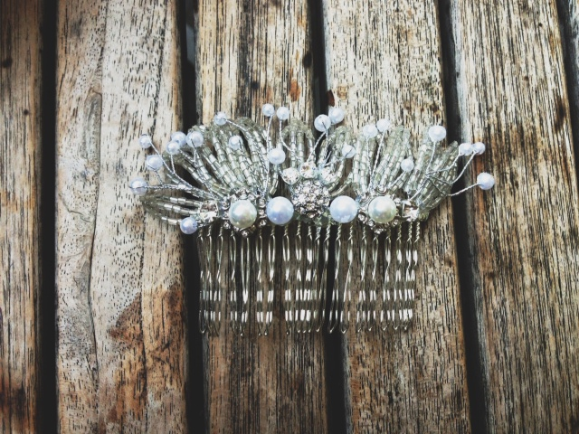 hairclip accessories handmade rlrb wedding bridal hairpiece