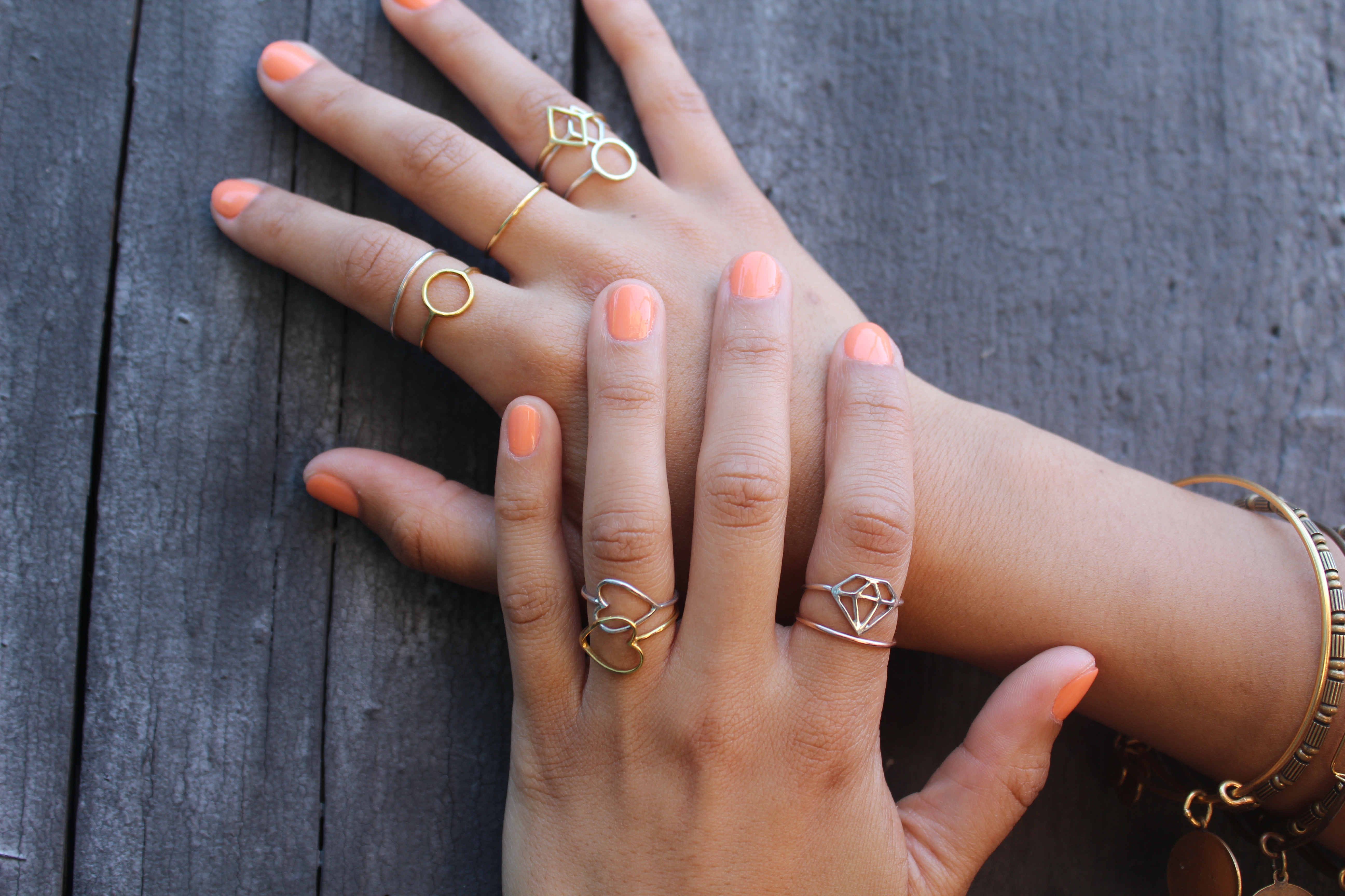 Silver Ring On Right Ring Finger
