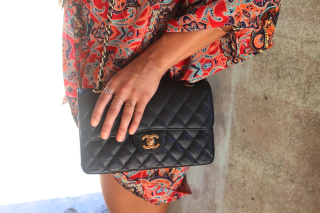 RLRB rings classic chanel quilted bag
