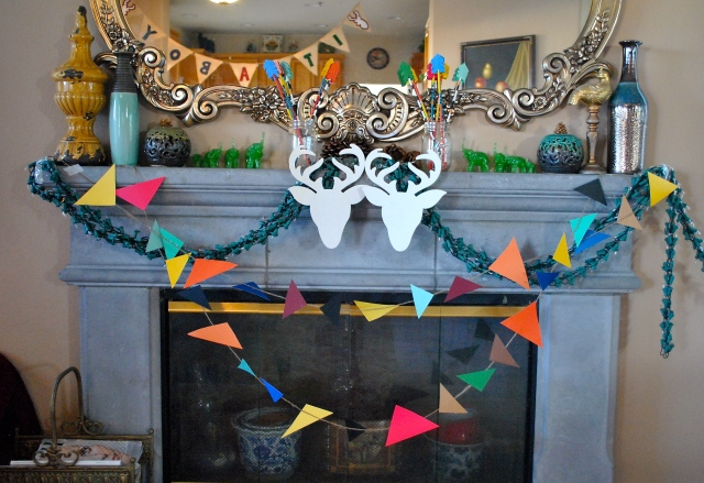 DIY woodsy rustic camp arrows aztec deer theme baby shower decorations