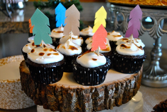smores cupcakes homemade arrows