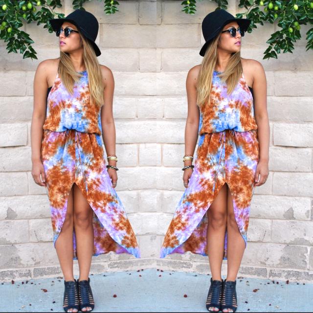 RLRB Style blogger tie dye dress