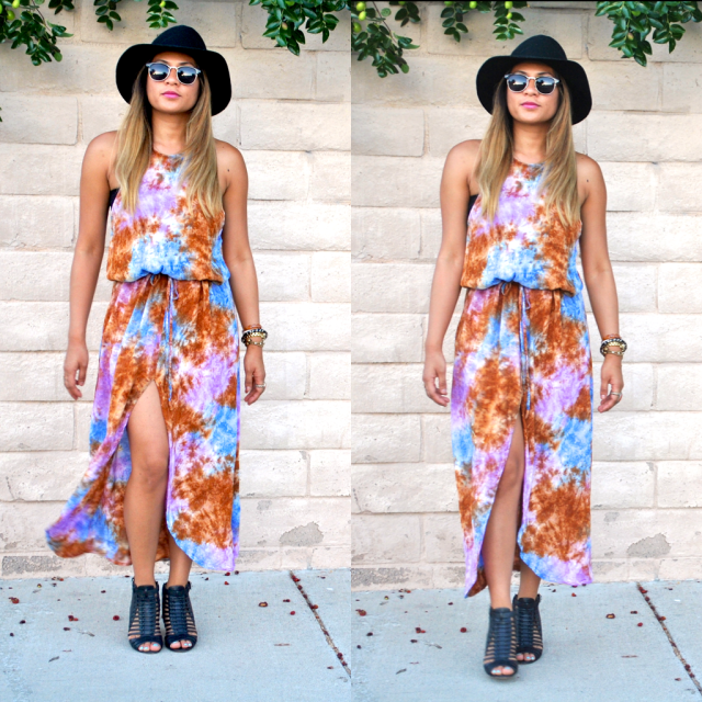 Summer style summer dress tie dye