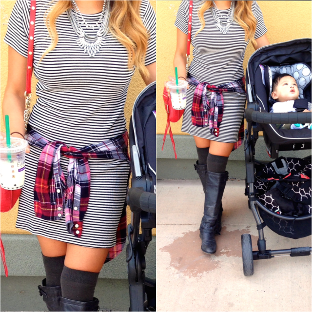 stripes mixed pattern outfit idea rlrb style