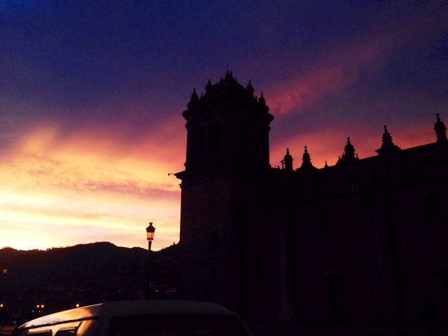 Cusco Sunset Plaza De Armas Peru RLRB