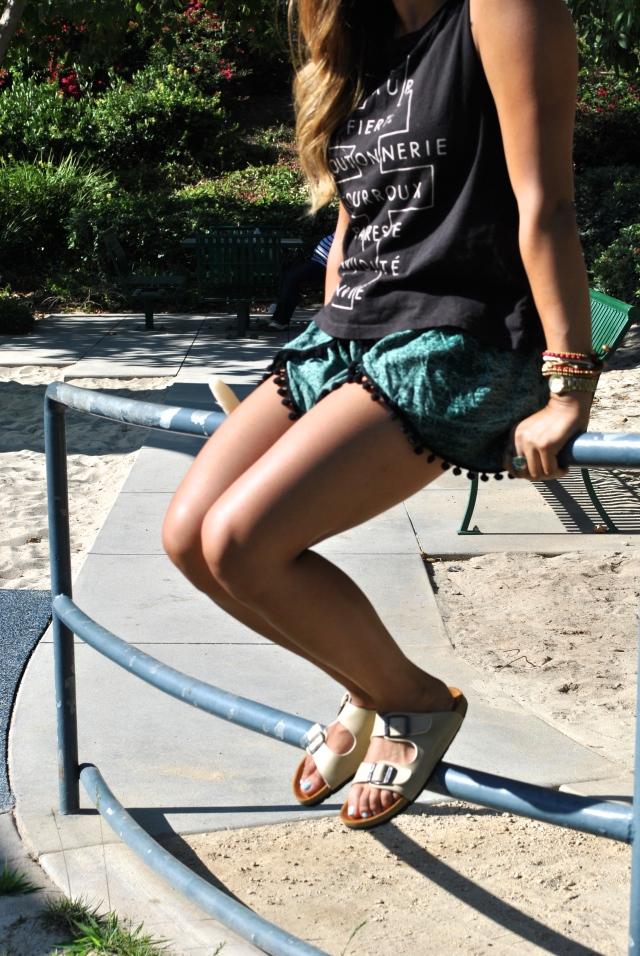 summer style pom pom shorts RLRB